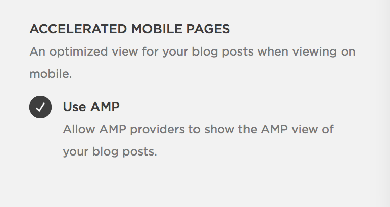 AMP on Squarespace