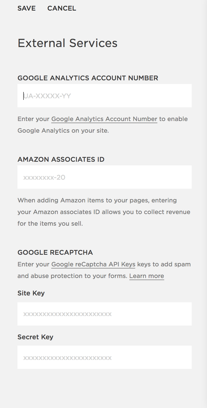 Google Analytics for Squarespace