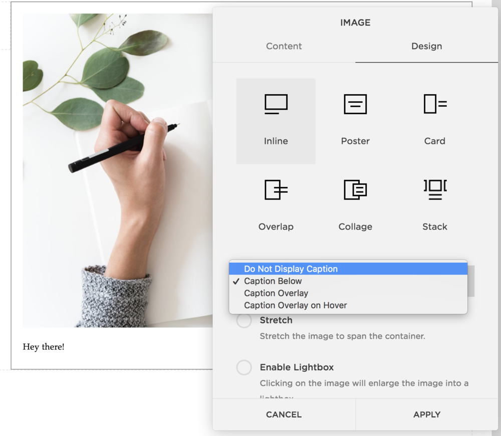 Inline Image Layout on Squarespace