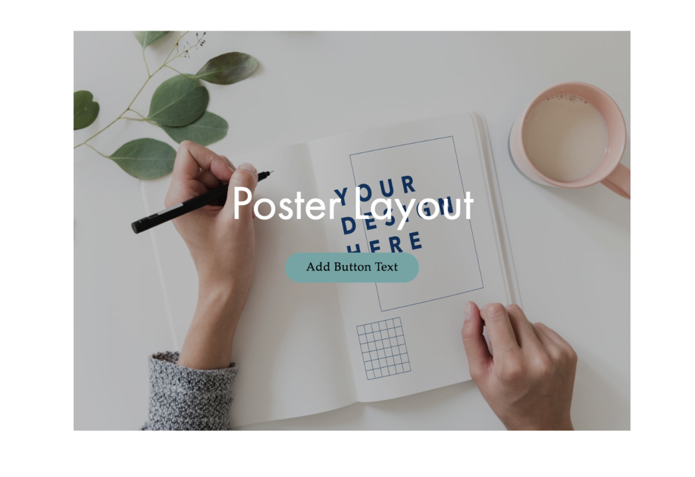 Poster Layout With Button on Squarespace
