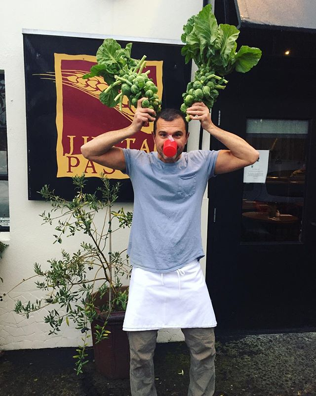 Meet Roland the red nosed sproutdeer! Come down for dinner tonight and tomorrow before we close for the holidays (12/24-12/26). We have delicious Chicken Parmesan and Smoked Salmon Ravioli plus much much more 😋 #madewithlove #foodie #italianfood #homemade