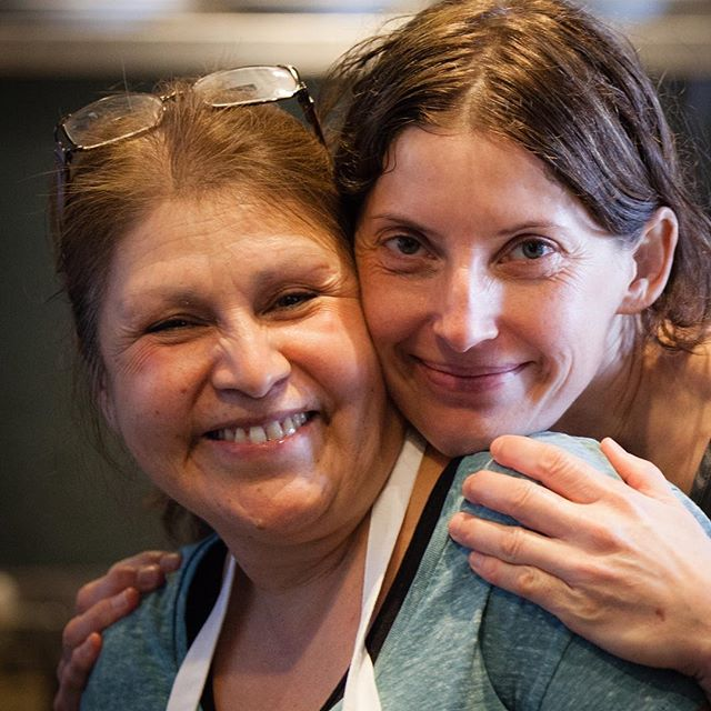 Two of the many amazing women that make #justapasta the awesome place that it is.  #keema #maria #love
