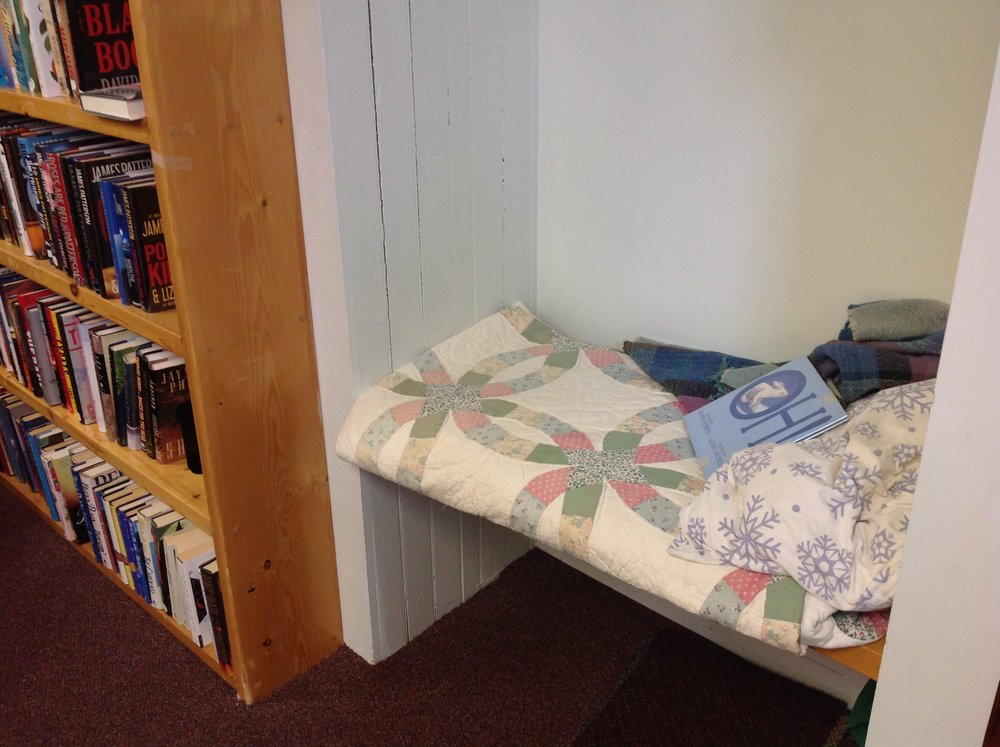 A cozy nook for our youngest readers to have quiet time with their book.