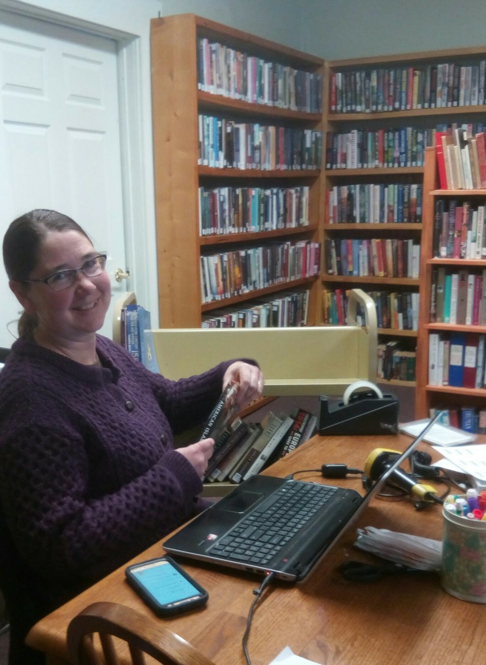 "Our collaborator, Craftsbury Librarian, Susan O""Connell"