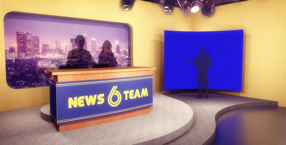 NEWS TEAM SIX,NEWS CAMERA VIEW -3D RENDERING