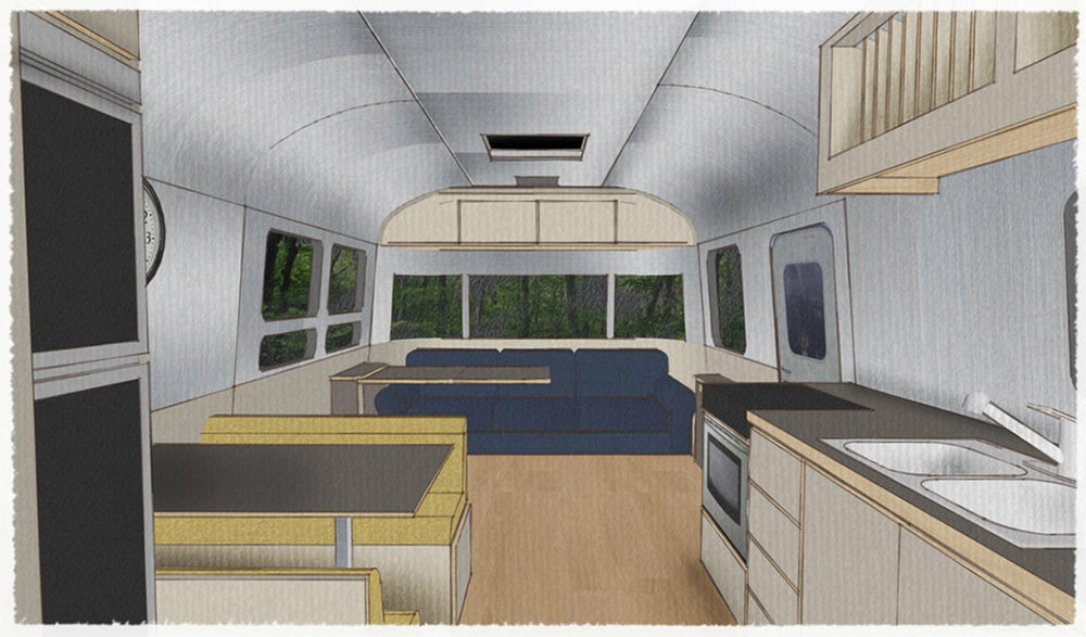SIOBHAN'S TRAILER - 3D MODEL LIVING VIEW