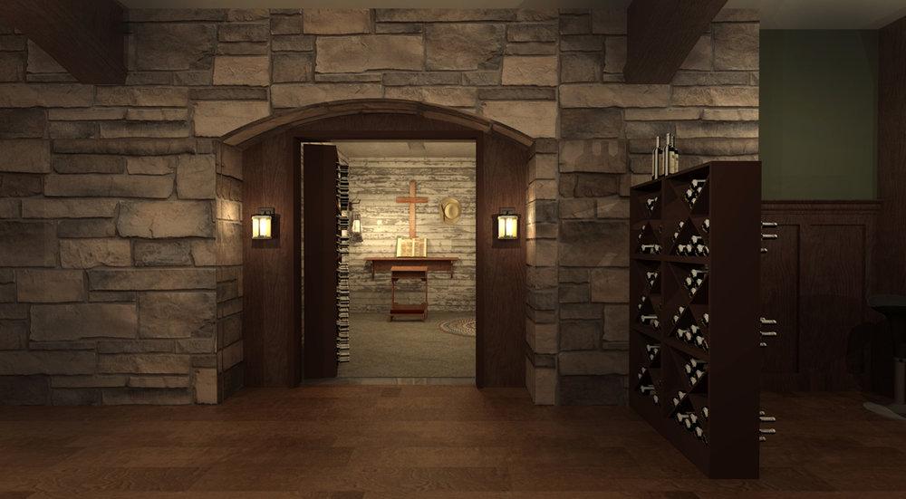 PROCTOR'S SECRET ROOM - 3D RENDERING