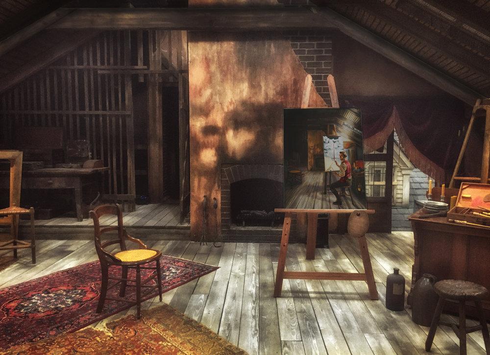 COLBY'S STUDIO - SET PHOTO