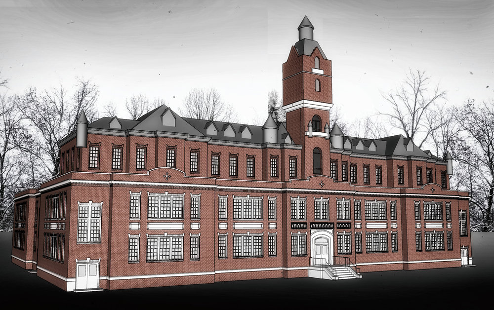 TARRYTOWN PSYCHIATRIC HOSPITAL, EXTERIOR CONCEPT - 3D MODEL