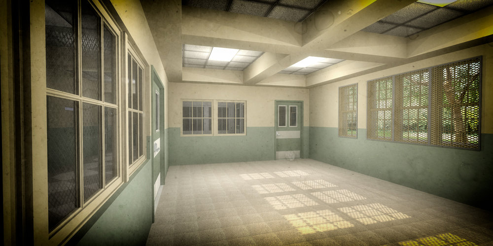 TARRYTOWN PSYCHIATRIC HOSPITAL (RECREATION ROOM) - 3D RENDERING