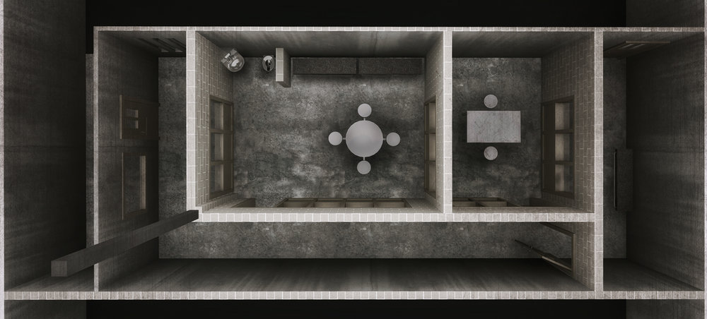 PRISON VISITATION ROOM - 3D RENDERED PLAN