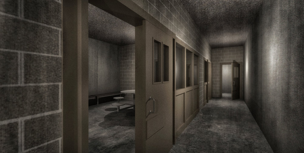PRISON VISITATION ROOM - 3D RENDERING