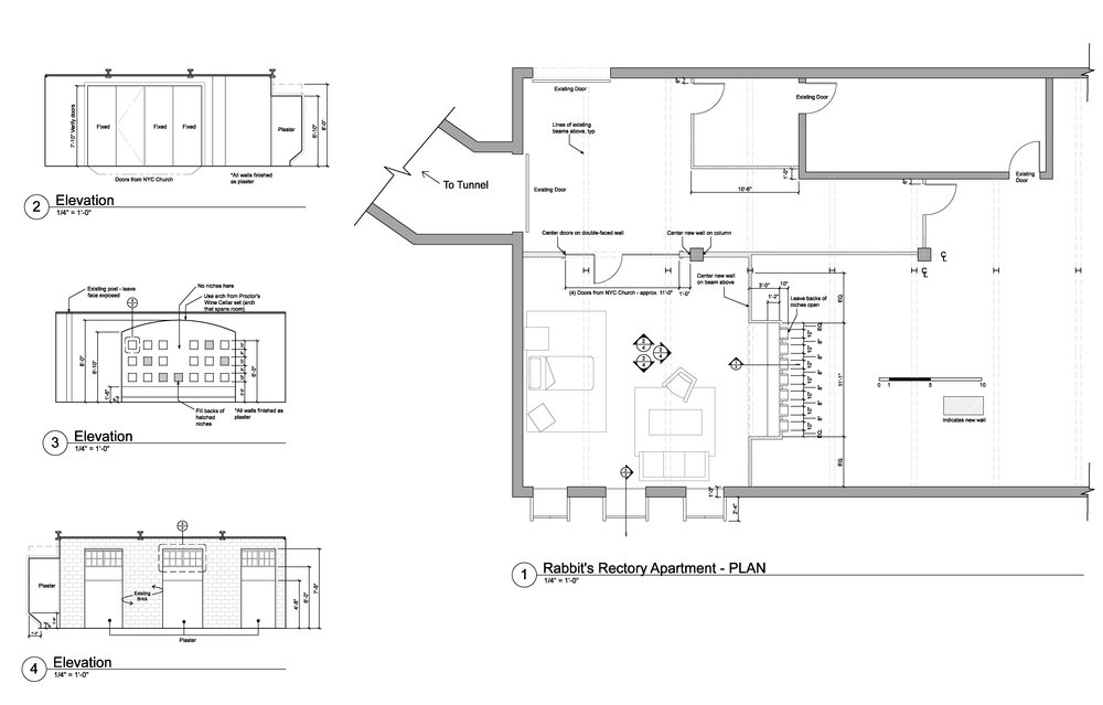 CHURCH RECTORY APARTMENT/SICKROOM - WORKING DRAWINGS