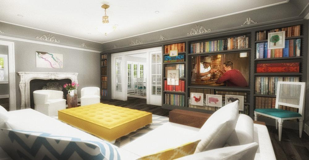 FORMAL LIVING ROOM - RENDERING