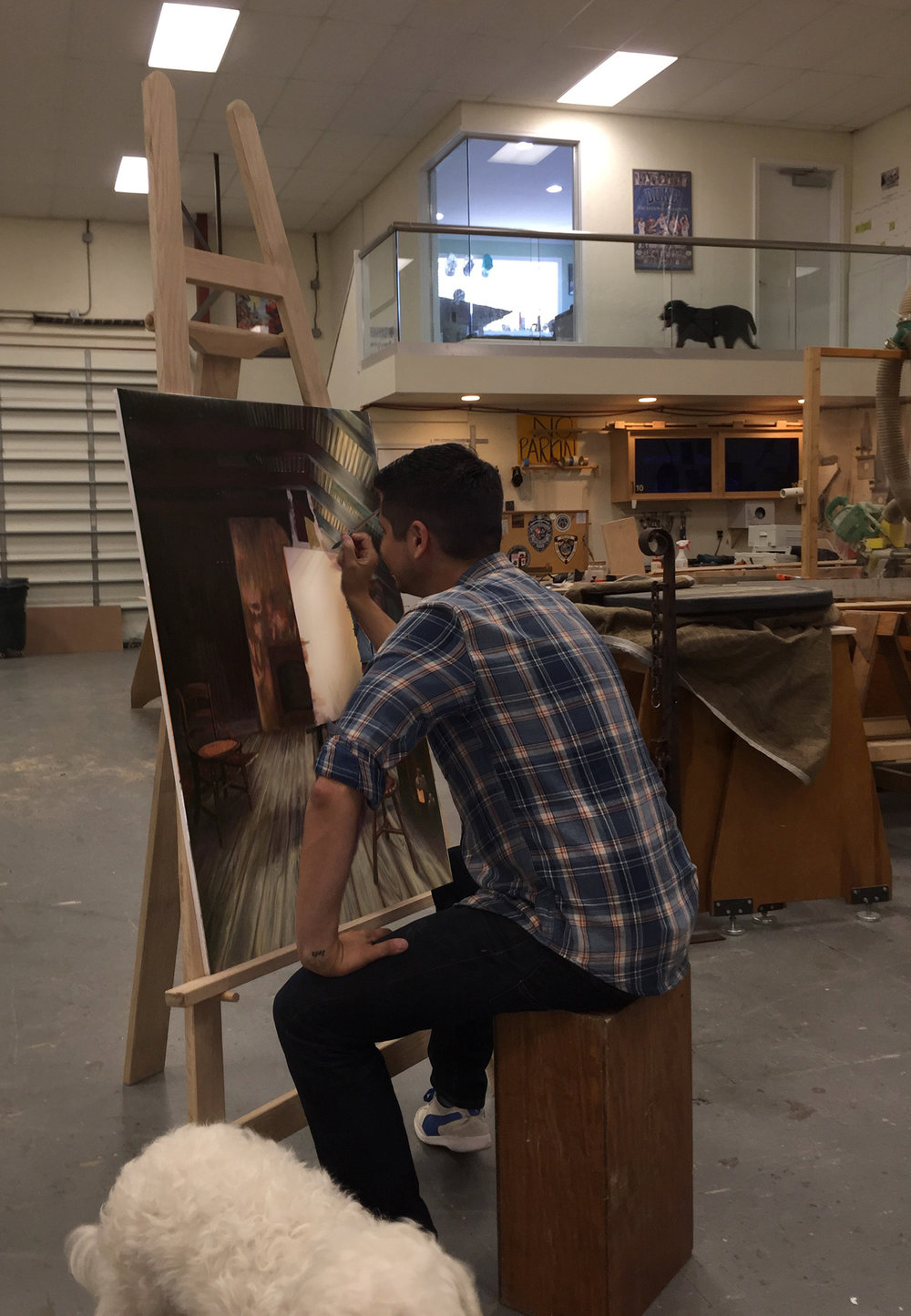"""The Paintings - I painted the five paintings that """"came to life"""" as the episode progressed."""