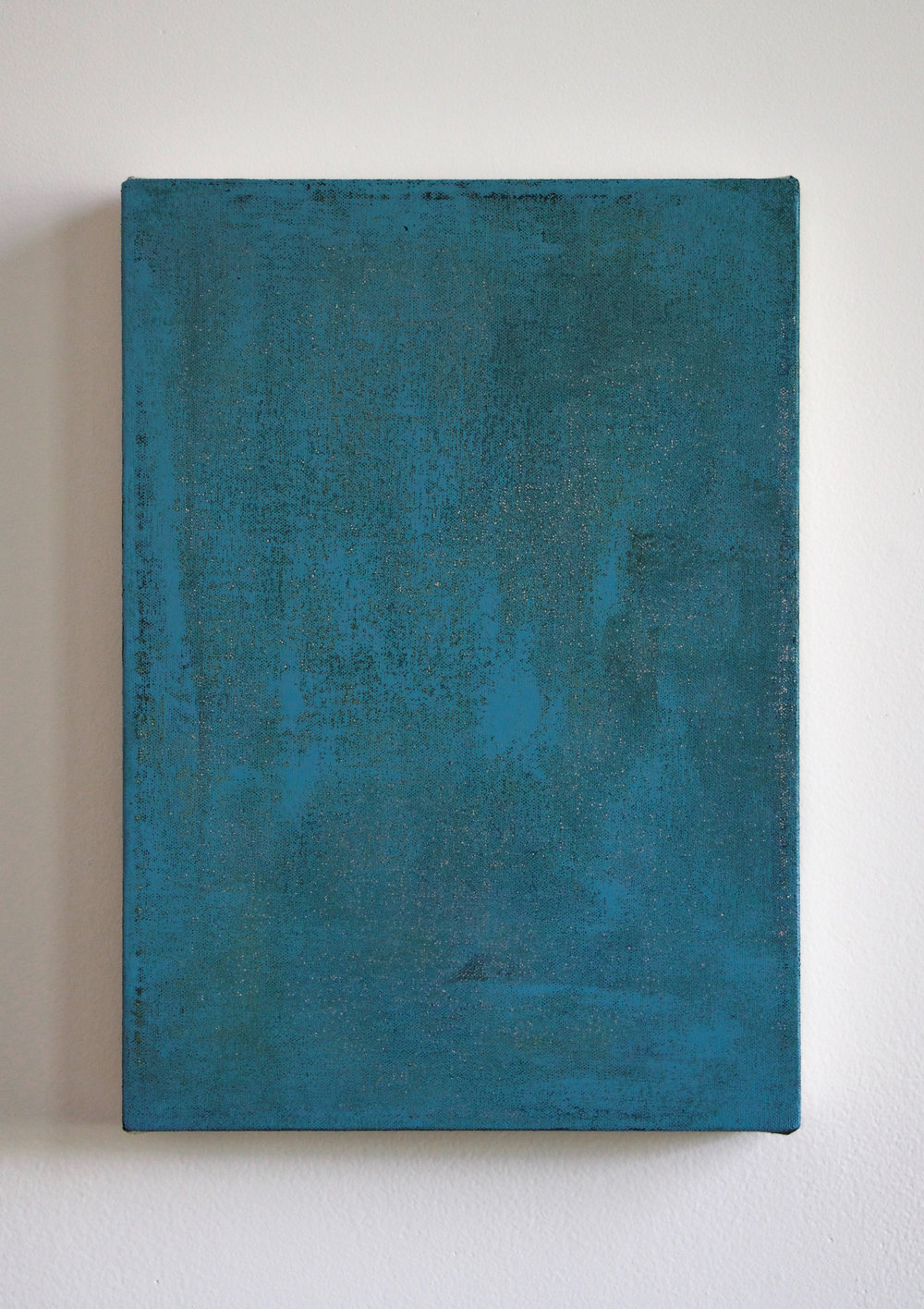 Untitled (Blue Painting), 14%22x10%22 Acrylic on canvas 2017.jpg
