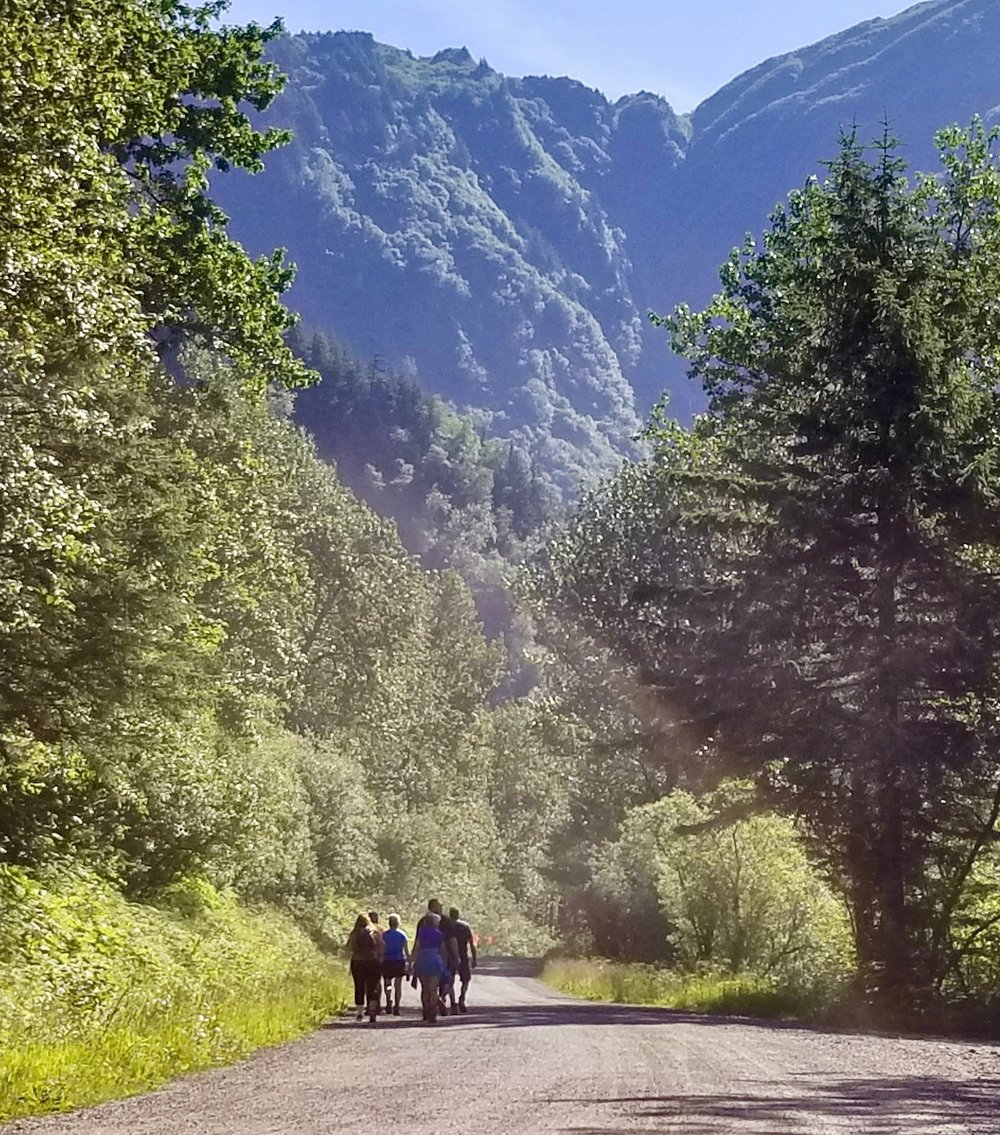 group walking down basin road.jpg