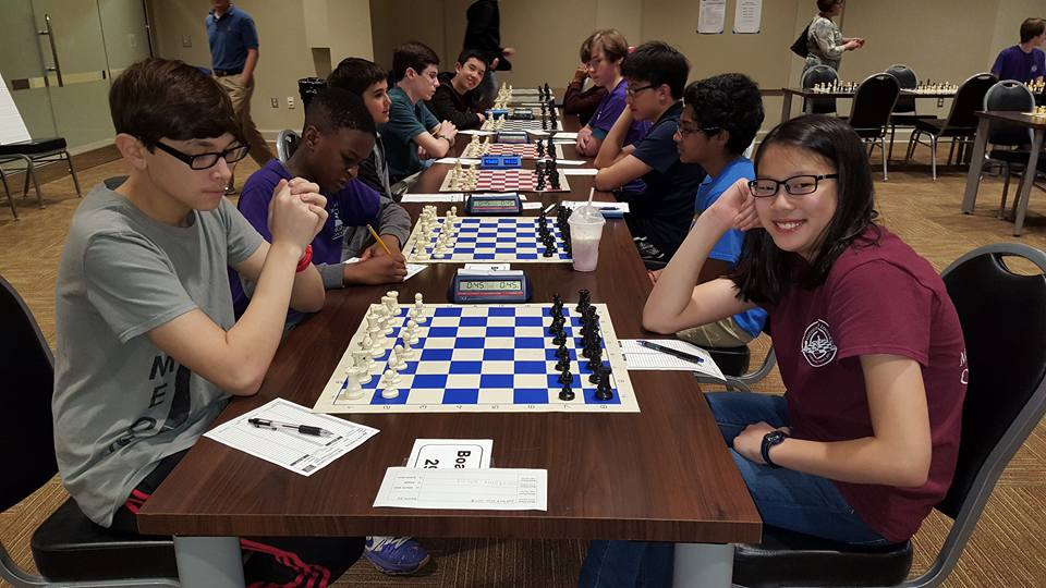 Issac Snow (left) about to take on Constance Wang in a decisive game!