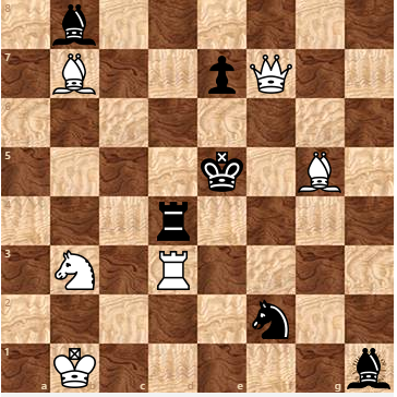 White to Play - Mate in Two!Hint: Look for a bishop move to block some pieces from defending important squares.