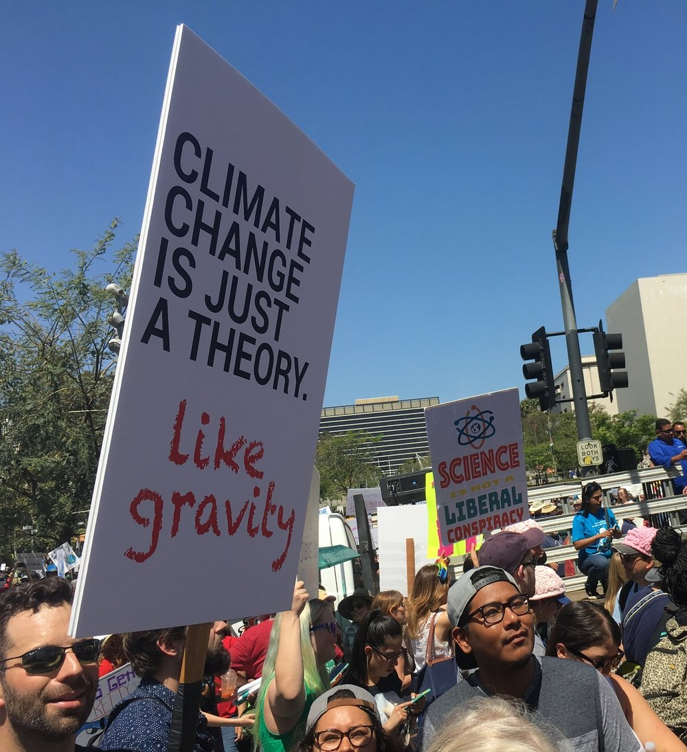 There were some great signs at last year's Climate March!