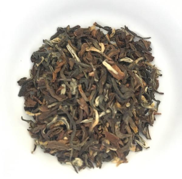 Three-ish grams of 2017 Nepalese black tea from Jan Chiabari Estate.