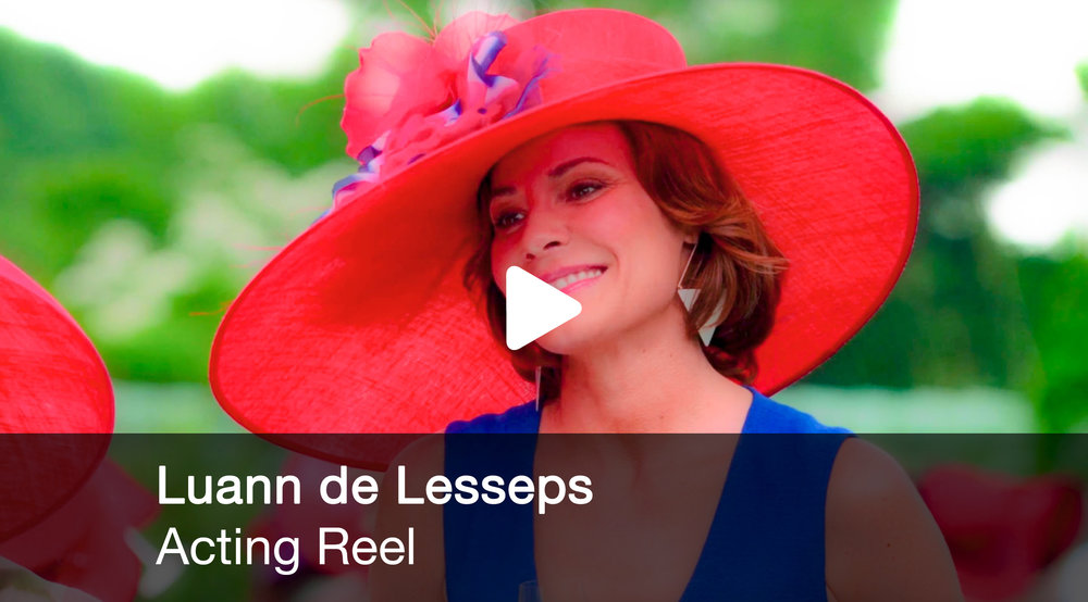 The acting reel of Luann de Lesseps. She appeared as a guest star on the popular Hulu TV show, Difficult People and fans can still see her in airings of her appearance on Law & Order. visit: www.countessluann.com