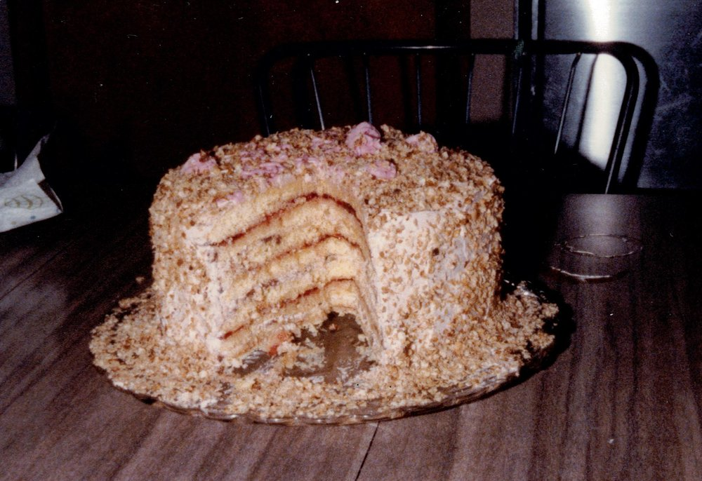 German Layer cake, recipe courtesy of Gisa Power. Made by Bill for my 30th birthday.