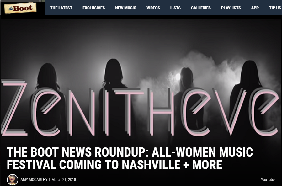 The Boot: All-Women Music Festival Coming to Nashville + More -