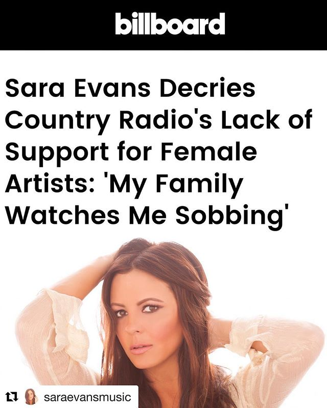 Thank you to @saraevansmusic for being brave enough to speak your truth! #zenithevemusicfestival  #Repost @saraevansmusic with @get_repost ・・・ There has been a lot of reaction to my recent comments about country radio. I am, and have been for several years, devastated to see how the genre I grew up on and made my career on has changed. The obvious and most maddening change to me has been the blatant stonewalling of female artists. One day I'm a country artist with hits on country radio and the next, I can't even get one spin on ANY of my new music. It's so frustrating and I don't know what genre my music belongs to now. But the other major disappointment is the lack of creativity and lyrical sophistication that is being played now. (Not all, but most). Country music used to be known for its amazingly true to life, heartfelt lyrics. With sweet sounds like steel guitar and fiddle surrounding those lyrics. It used to be true stories told of unrequited love, or lost hopes and dreams, and sometimes fun down-home good ole party songs, but it was great music. When I signed my record deal with RCA, country airwaves were full of amazing females like Reba McEntire, Patty Loveless, Trisha Yearwood, and so many more. It's time for a change.