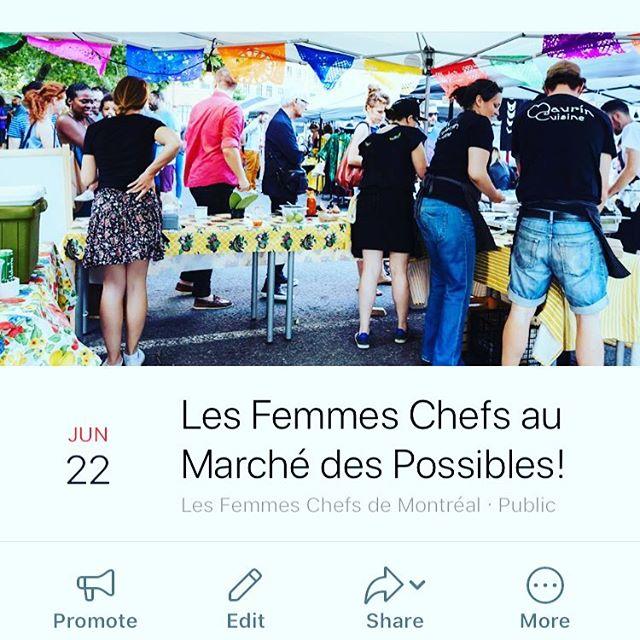 Viens manger la bonne bouffe de femme chefs! Au @marchedp #mtl #mtlfood #mileendmtl #mtlevent