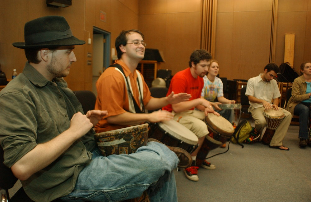 Drumming at Radford.JPG