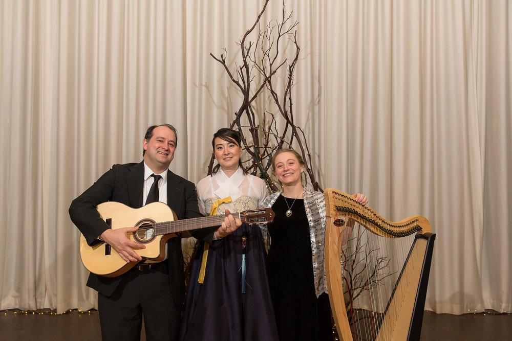 Hannah, Bob and Stephanie at wedding- music.jpg