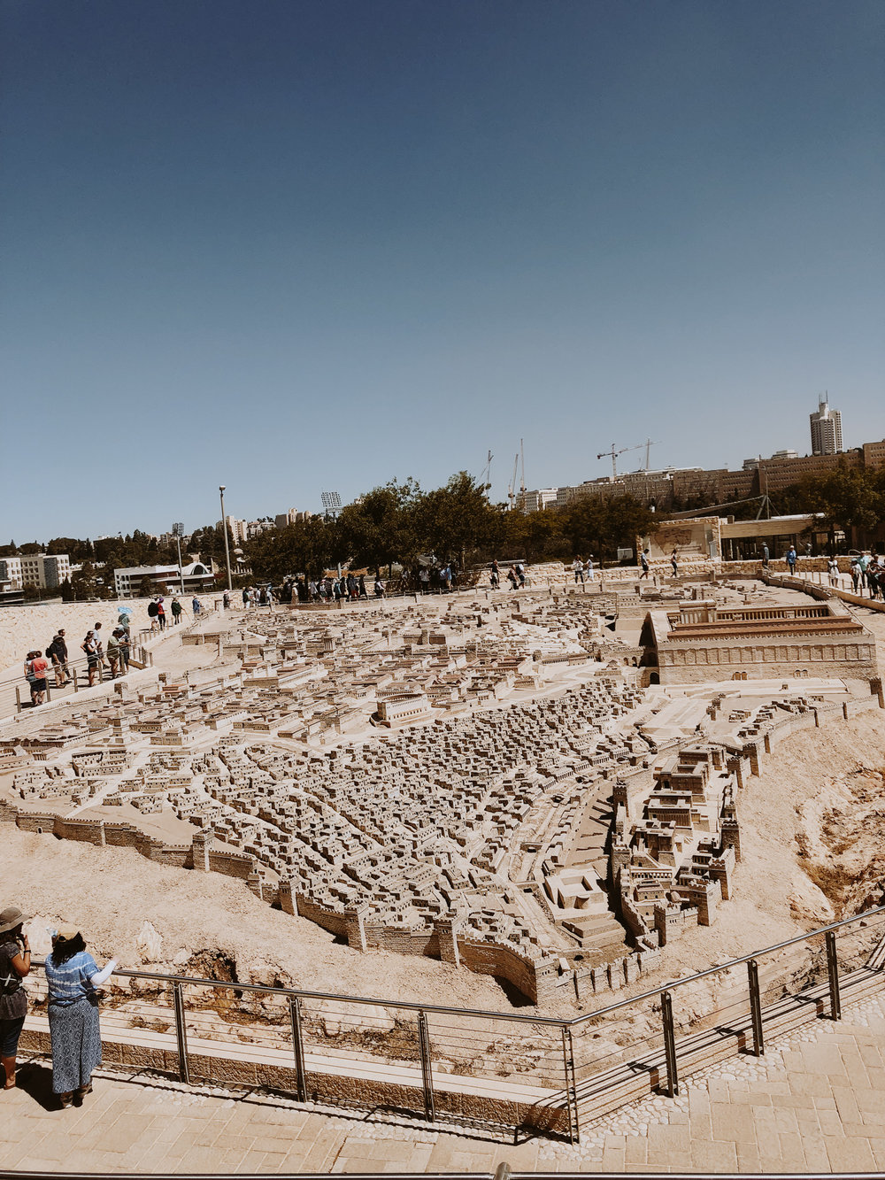 An overview of Jerusalem from the Israel Museum.