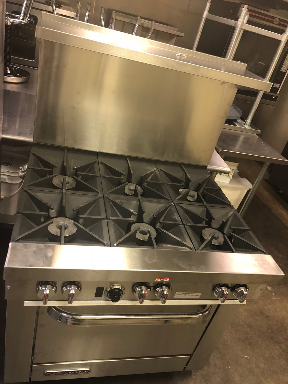 Under the hood, there will be a double deck gas oven and two 6 burner ranges.