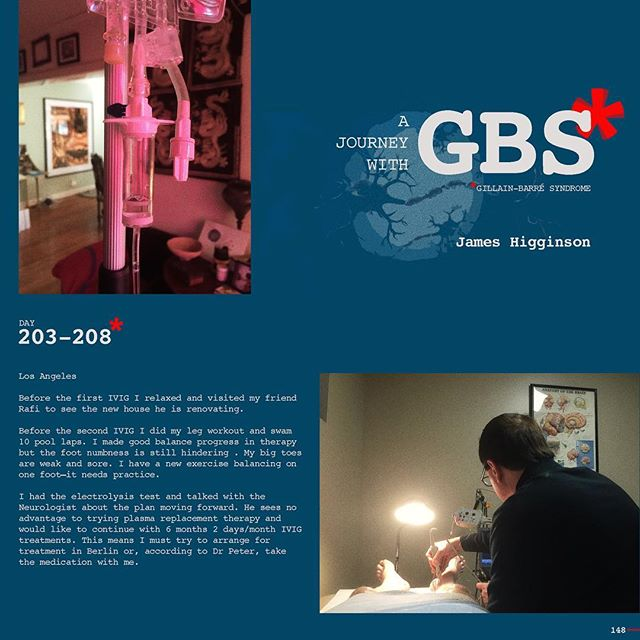 Day 203-208: A Journey with GBS, my journey, are daily posts to share my navigation through this insidious disease. I hope to raise awareness of GBS and add to a dialogue of the syndrome while documenting my recovery. JOIN ME, Follow me on Instagram and repost/share to help spread awareness and share survivor love!!! #jameshigginson #GBS #gillianbarresyndrome #gillianbarresurvivor #thiscanhappentoanyone