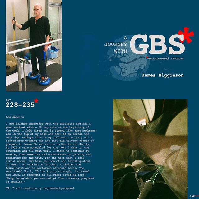 Day 228-235: A Journey with GBS, my journey, are daily posts to share my navigation through this insidious disease. I hope to raise awareness of GBS and add to a dialogue of the syndrome while documenting my recovery. JOIN ME, Follow me on Instagram and repost/share to help spread awareness and share survivor love!!! #jameshigginson #GBS #gillianbarresyndrome #gillianbarresurvivor #thiscanhappentoanyone