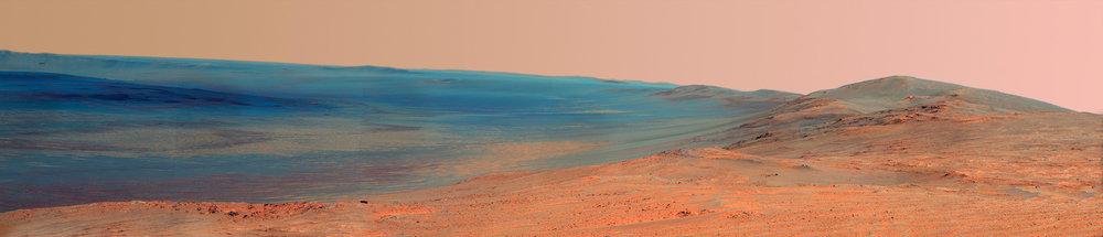 Endeavour Crater Rim. Image Credit: NASA/JPL-Caltech/Cornell Univ./Arizona State Univ.
