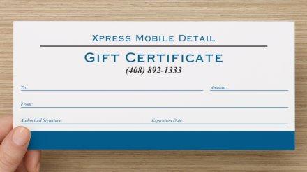 daniel ramirez 408 892 1333 mobile detailing gift certificate