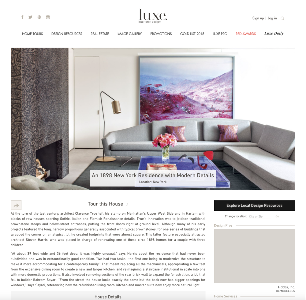 LUXE MAGAZINE  RIVERSIDE DRIVE TOWNHOUSE