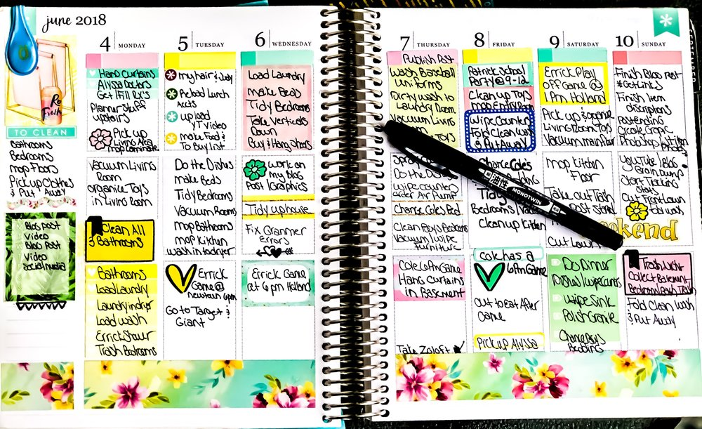 My 2018 Erin Condren Life Planner ~ Vertical Neutral Layout.