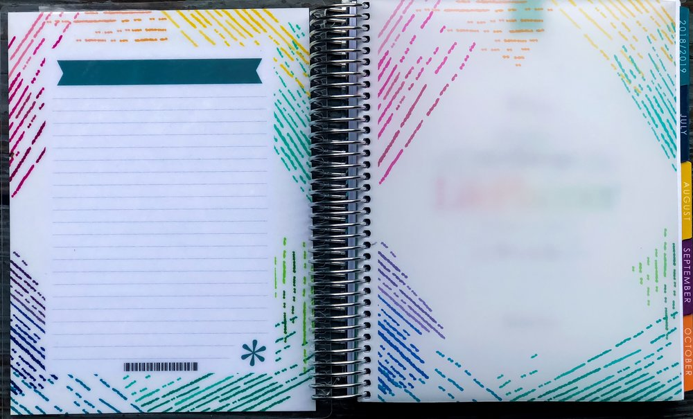 To - Do List style on the back of the covers in the Erin Condren Life Planner.