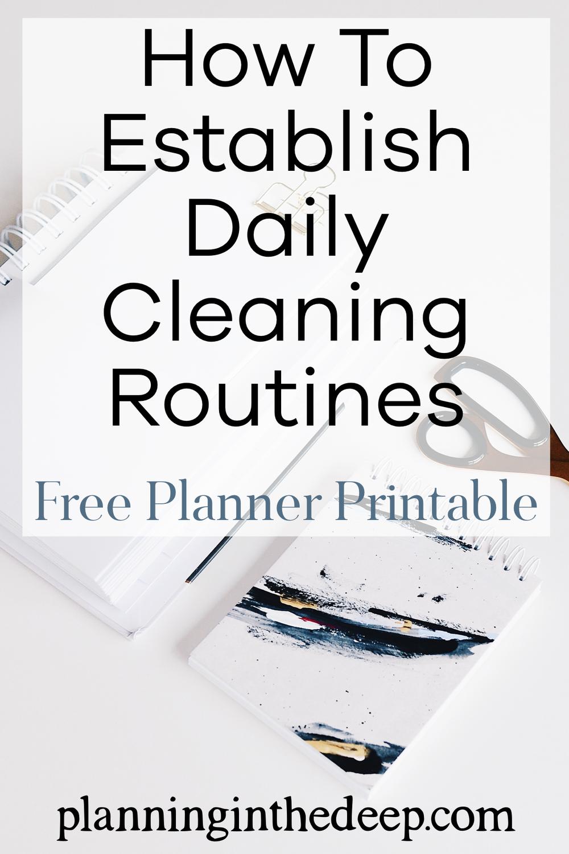 Cleaning Routine Checklist