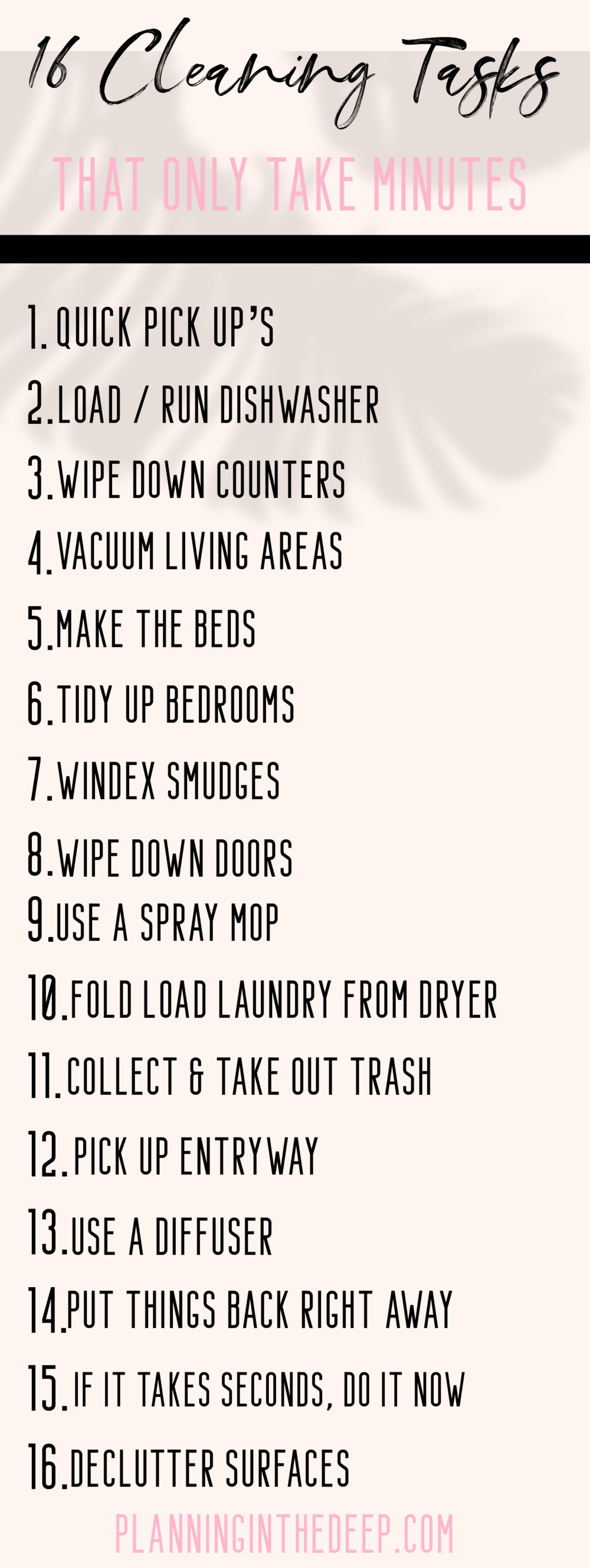 16 Cleaning Tasks That Only Take Minutes