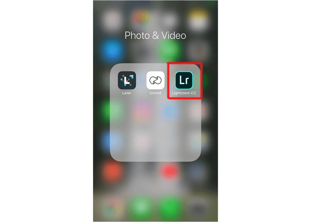 Open the Lightroom CC app on your iPhone
