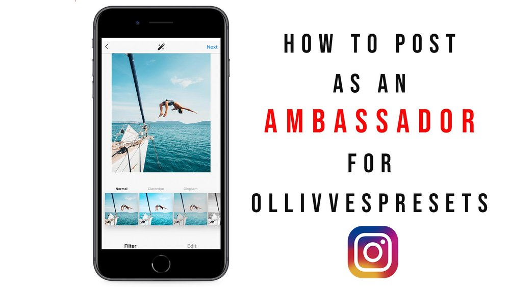 how to post as an ambassador for ollivvespresets