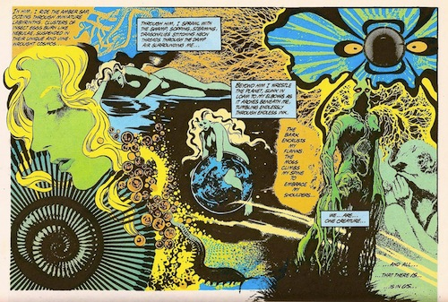 Like, whoa. Alan Moore's Swamp Thing, art by Steve Bisette