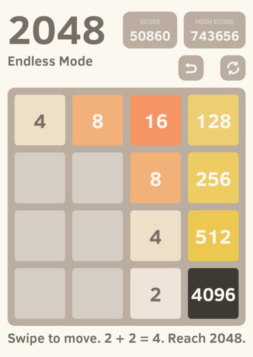 You can keep going past 2048; you can keep going forever.