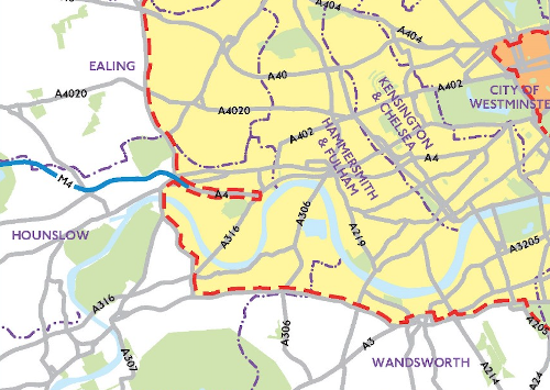 The A4 corridor has bizzarely been excluded from the proposed Ultra Low Emission Zone.