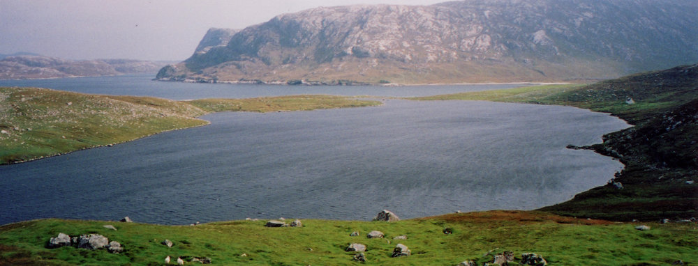 Loch Na Cleabhaig with the Taran's steep west face in the distance.