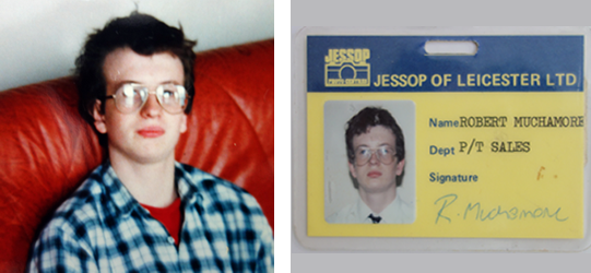 At home 1987/Jessops Staff ID badge 1988
